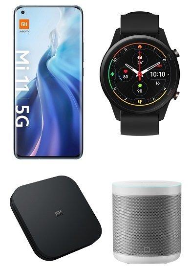 Xiaomi Mi 11 5G 256GB (99€) + Mi Watch + Mi Box S + Mi Speaker + Vodafone Allnet Flat mit 18GB LTE für 29,99€ mtl.