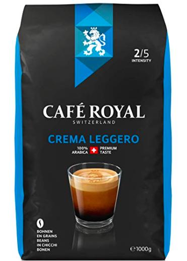 1kg Café Royal Crema Leggero Bohnenkaffee für 6,80€ inkl. Prime VSK (statt 10€)