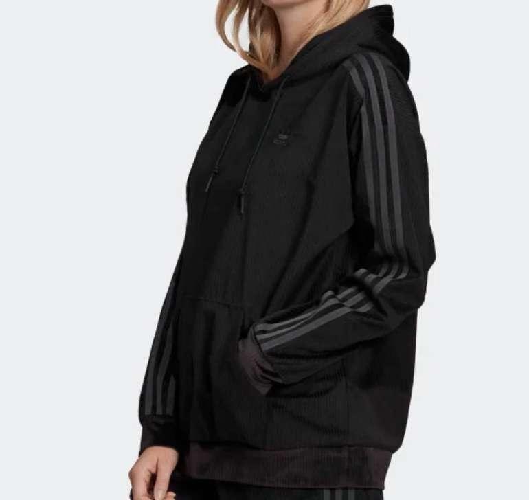 Adidas Originals Damen Velours Hoodie 30 Black für 40,52€ inkl. Versand (statt 48€)