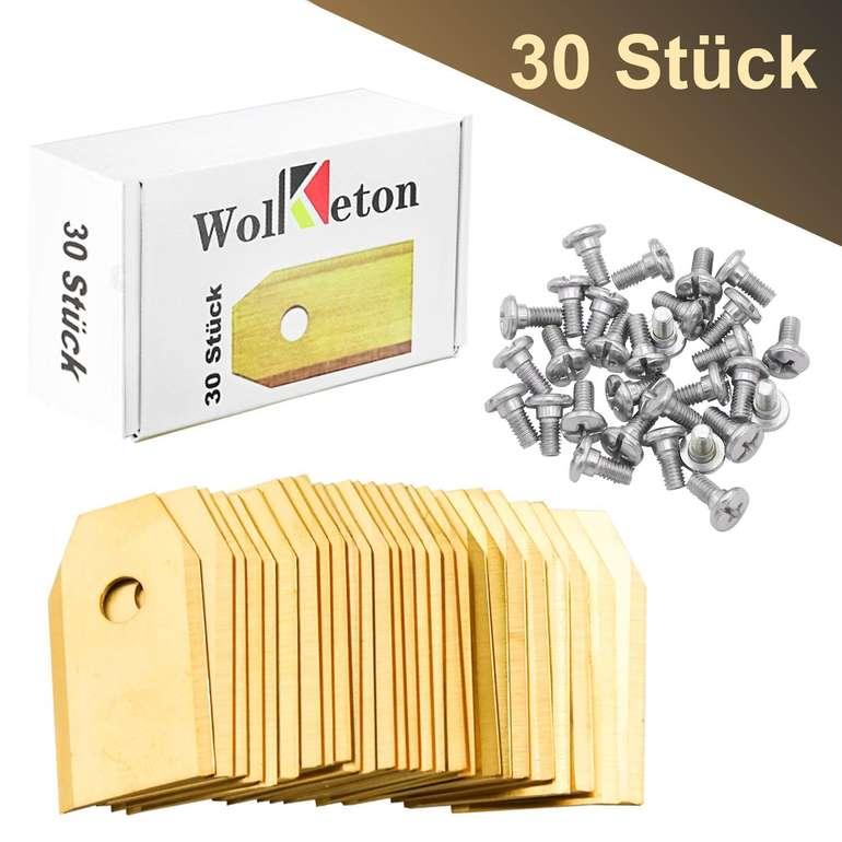 30 Wolketon Titan Ersatzklingen (Mähroboter) für 9,09€ inkl. Versand (statt 13€)