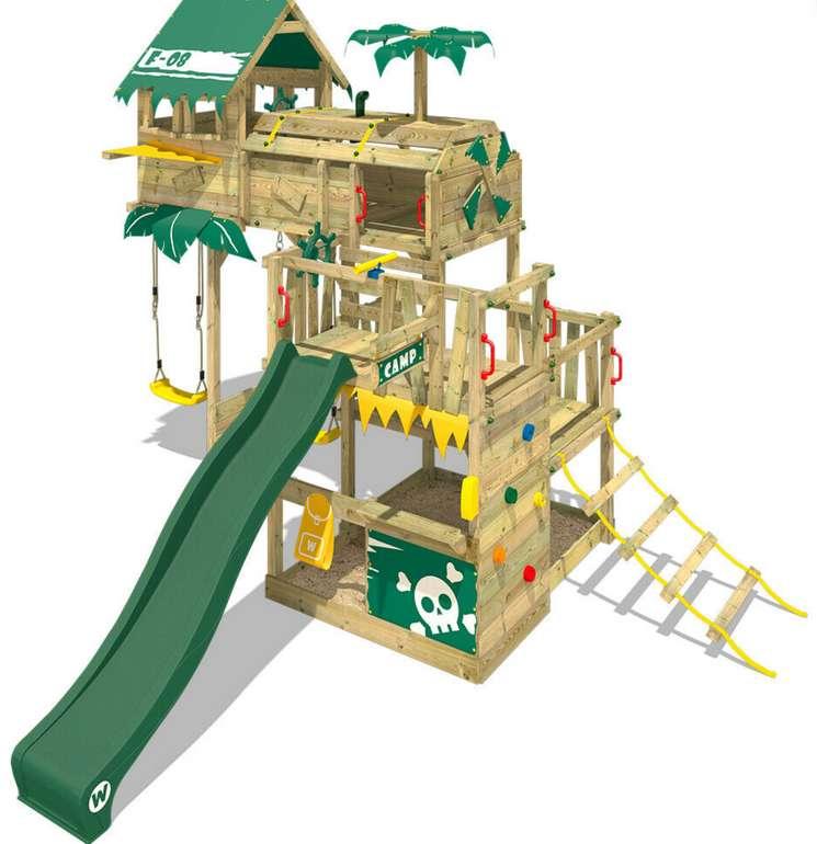 Wickey Spielturm Klettergerüst Smart Castaway mit Schaukel & grüner Rutsche für 1549,95€ inkl. Versand (statt 2240€)