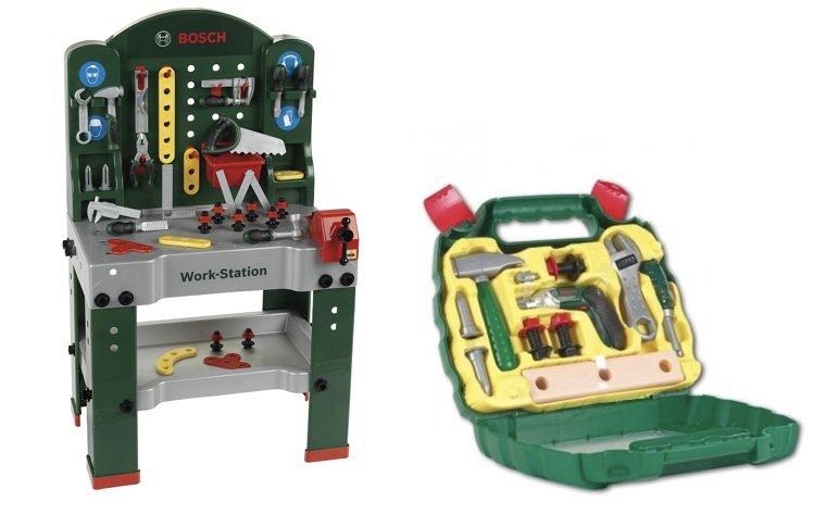 Bosch Kinder Super Werkbank und Werkzeugkoffer für 63€ inkl. VSK (statt 80€)