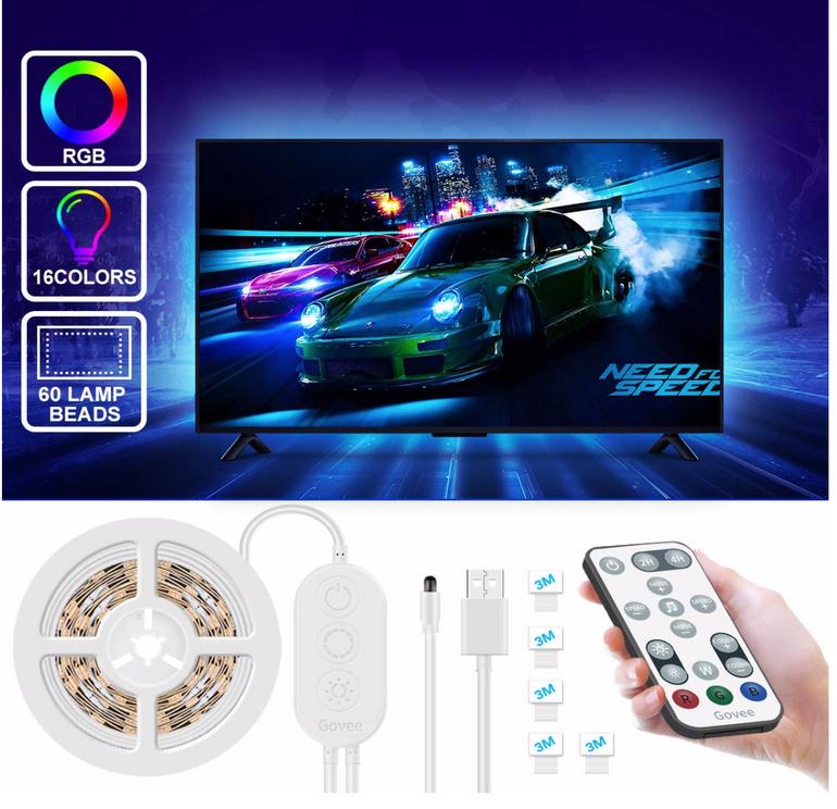 2m Govee LED TV Hintergrundbeleuchtung für 8,44€ inkl. Prime (statt 13€)