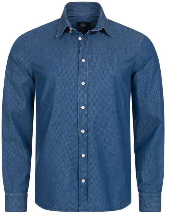 SportSpar Restgrößen Sale mit bis zu 55% Rabatt - z.B.  Hackett London Printed Indigo Herren Freizeit Hemd für 14,85€