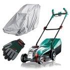 Bosch Rotak 32 Li Akku-Rasenmäher (4,0Ah) + Handschuhe & Regenschutz für 244€