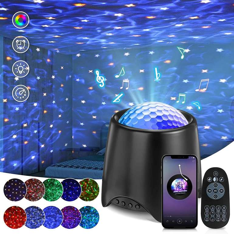 Solmore LED Sternenhimmel Projektor mit Bluetooth Lautsprecher für 14,99€ inkl. Versand (statt 30€)