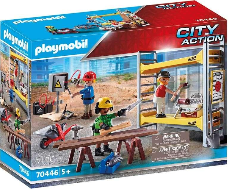 Playmobil City Action - Baugerüst mit Handwerkern (70446) für 7,95€ inkl. Prime Versand (statt 13€)