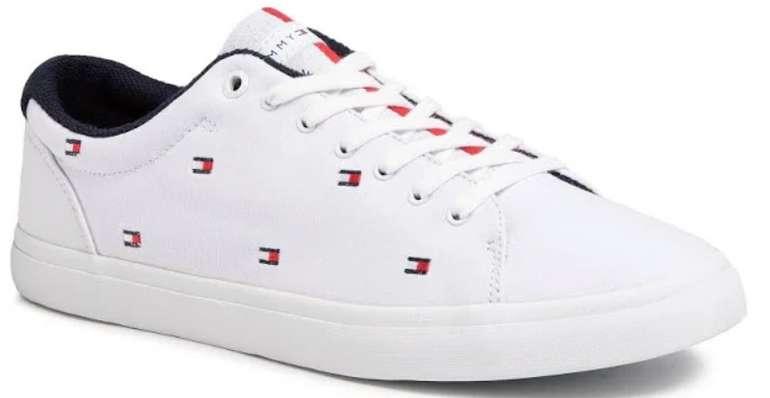 Tommy Hilfiger Sneaker aus Textil  in Weiß mit Logo-Print für 52,49€ inkl. Versand (statt 70€)