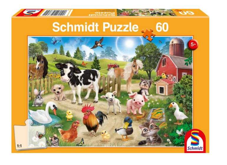 Animal Club Kinderpuzzle mit 60 Teilen für 5,69€ inkl. Versand (statt 10€) - Thalia Club!