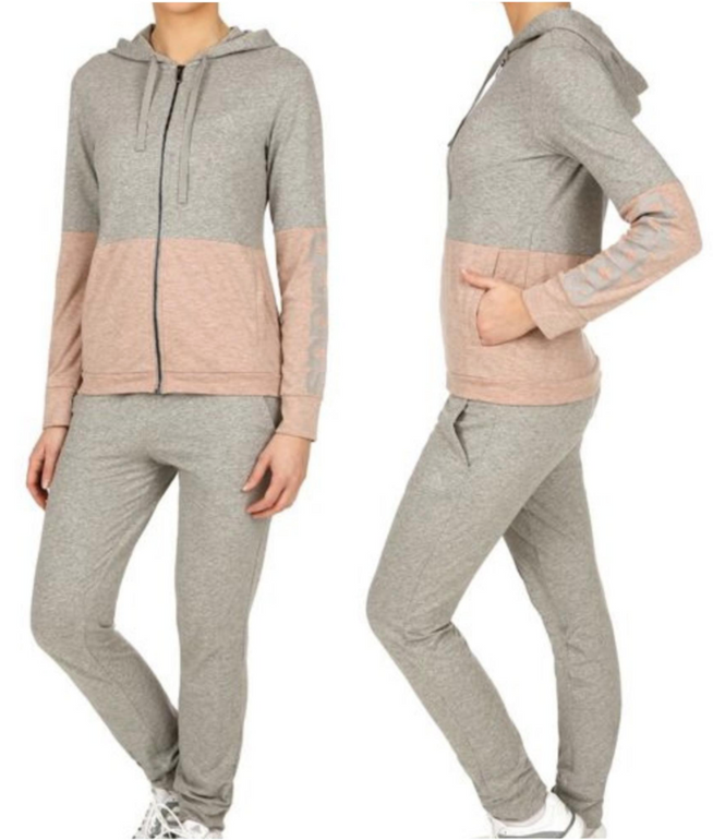 adidas Co Marker Trainingsanzug für Damen in Hellgrau für 42,90€ inkl. Versand