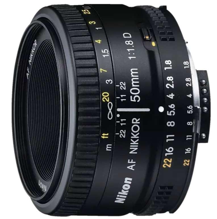 Media Markt: Nikon Aktion mit 10% Direktabzug - z.B. AF Nikkor 50 mm 1:1,8D Objektiv für 108,81€ (statt 132€)
