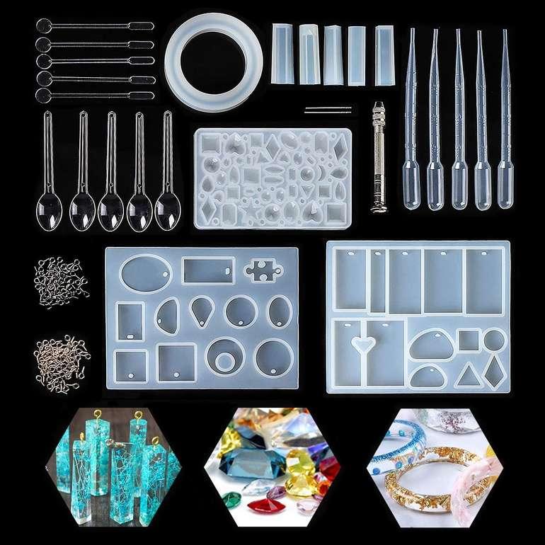 Jeteven Silikon Gießformen mit über 70 verschiedenen Mustern inkl. Werkzeug & Zubehör für 8,49€ - Prime!