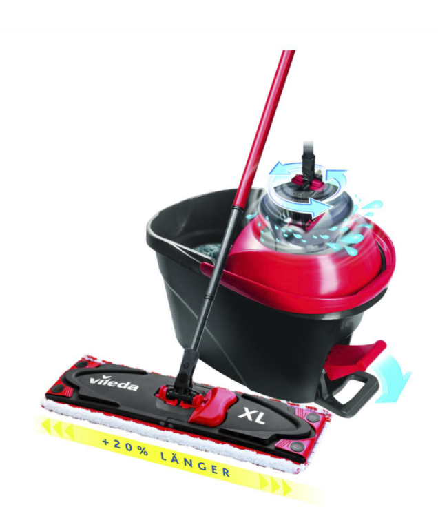 Vileda Ultramat Turbo XL Komplett-Set + Vileda Schwammtuch 5-er Pack für 30,60€ inkl. Versand (statt 40€) - Newsletter