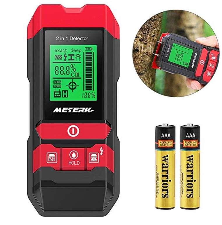 Meterk MK55 Detektor für Stromführende Leitungen, Holz, Metall und Feuchtigkeit nur 25,89€