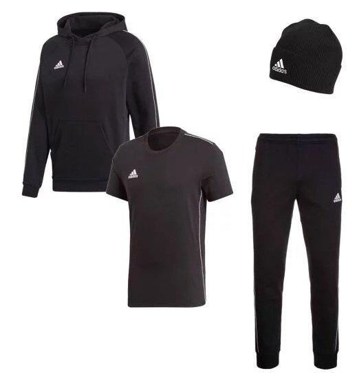 adidas Freizeitset Core 18 Set (Hoody, Jogginghose, Shirt, Mütze) für 54,95€