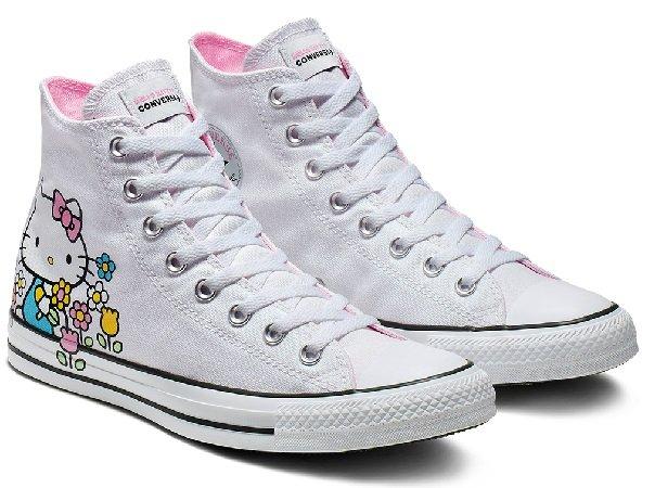 75% auf Converse X Hello Kitty Kollektion - z.B. Taylor All Star High Top 29,99€
