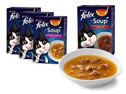 Kostenlos: 1 Portionsbeutel Purina Felix Soup (48 Gramm) gratis bestellen