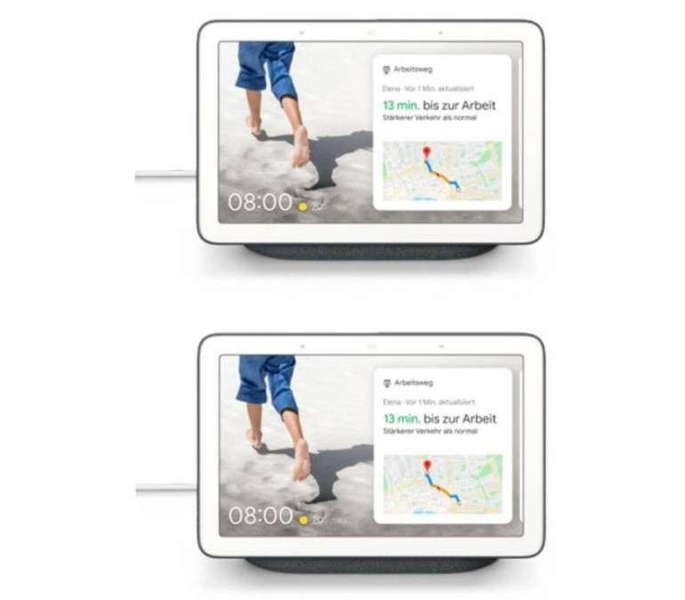 Google Nest Hub im Doppelpack für 134,95€ inkl. Versand (statt 200€)