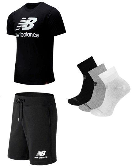 New Balance Outfit Essential (Shirt, Shorts & 3er Pack Socken) für 44,95€ inkl. Versand