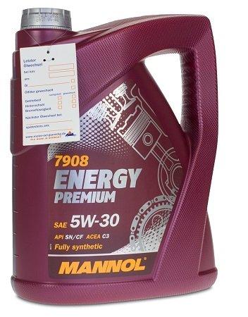 Mannol Energy Premium 5W-30 Motorenöl für 16,49€ inkl. VSK