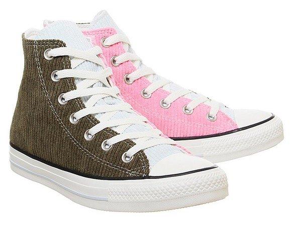 """Converse All Star Hi Unisex Trainers """"Corduroy Herbal Pink"""" für 30€ (statt 50€)"""