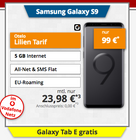 Galaxy S9 + Tab E + otelo Classic (5GB LTE, Allnet Flat, SMS Flat) für 23,98€