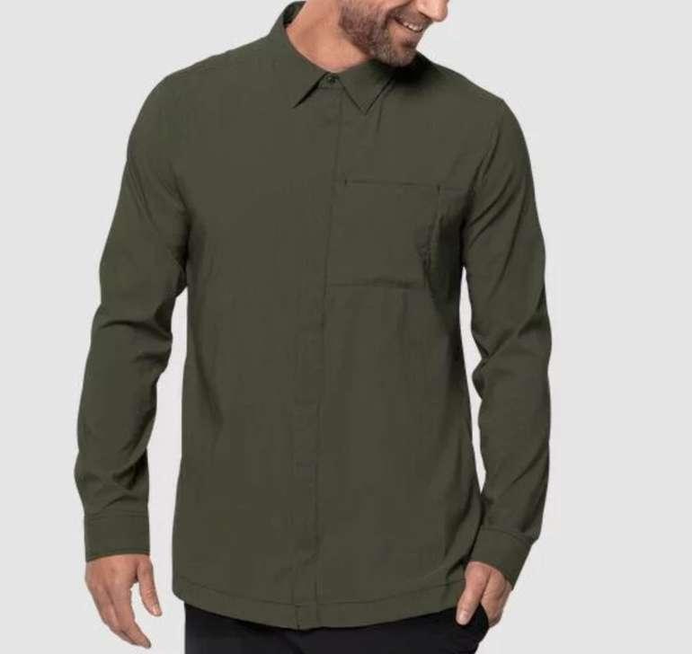 """Jack Wolfskin """"Jwp Ls Shirt M"""" Langarm Herren Hemd für 34,90€ inkl. Versand (statt 48€)"""