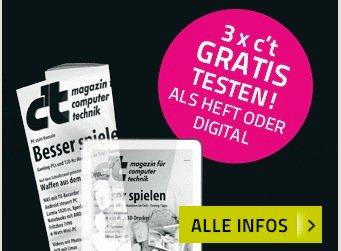 Gratis: 3 Ausgaben c't Digital kostenlos testen