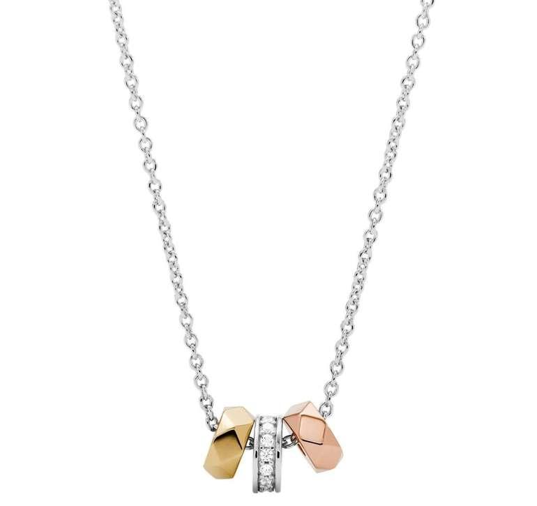Fossil Damen Halskette - Vintage Facets Sterling Silver (JFS00472998) für 18,40€ inkl. Versand (statt 39€)