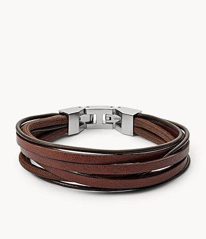 "Fossil Herrenarmband ""Brown Multi Wrap"" für 34,30€ inkl. Versand (statt 44€)"