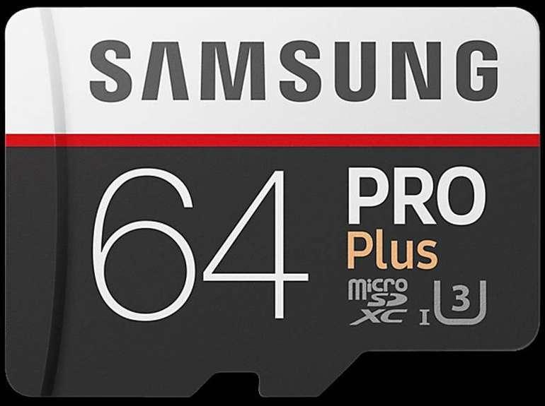 Samsung microSDXC Speicherkarte Pro Plus mit 64GB für 19,80€ inkl. Versand
