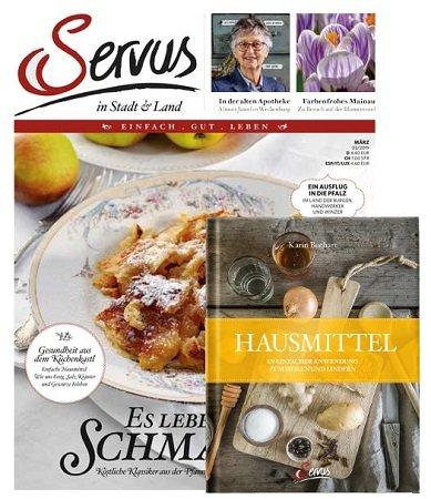 Servus in Stadt & Land Jahresabo + Servus Hausmittel Buch für 46,90€
