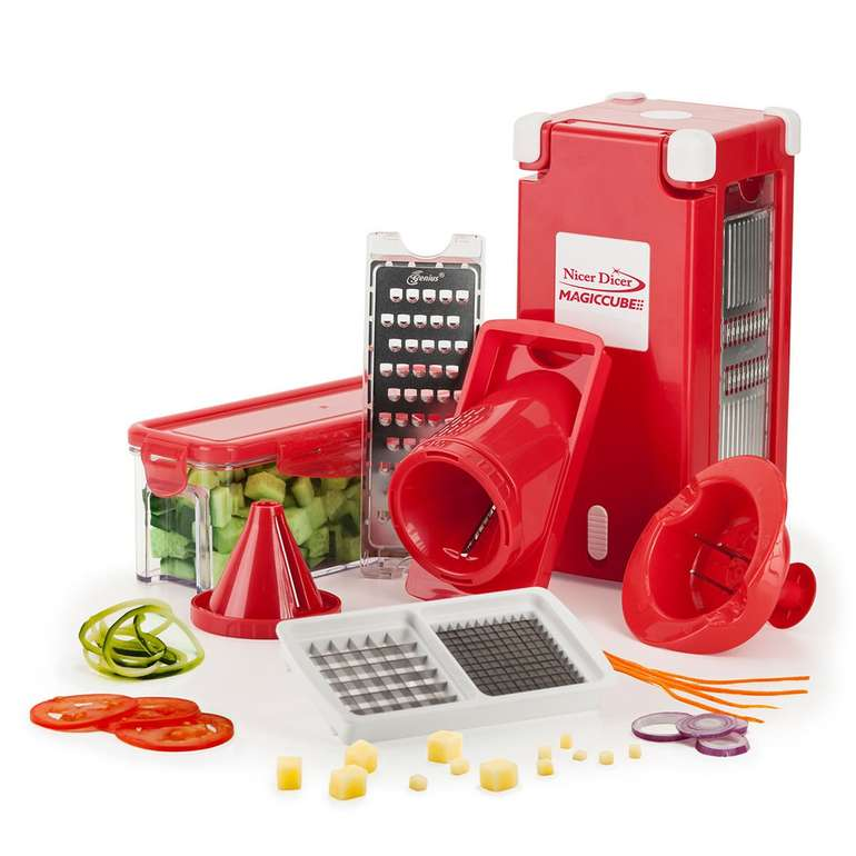 Genius Nicer Dicer Magic Cube Middle, 12-teilig für 37,94€ (statt 45€)