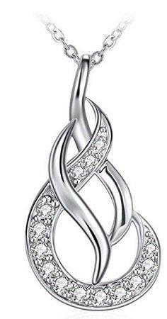 """ZHULERY - Damen Halskette """"Einfache Liebe"""" aus 925er Sterling Silber für 6,39€"""