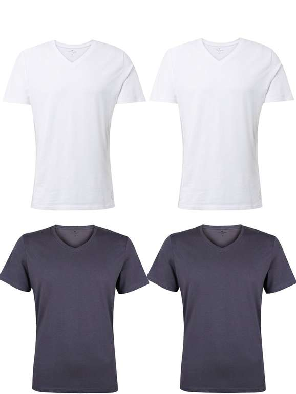 Jeans-Direct: 4er Pack T-Shirts Party, z.B. Tom Tailor Basic Shirts für 26,45€