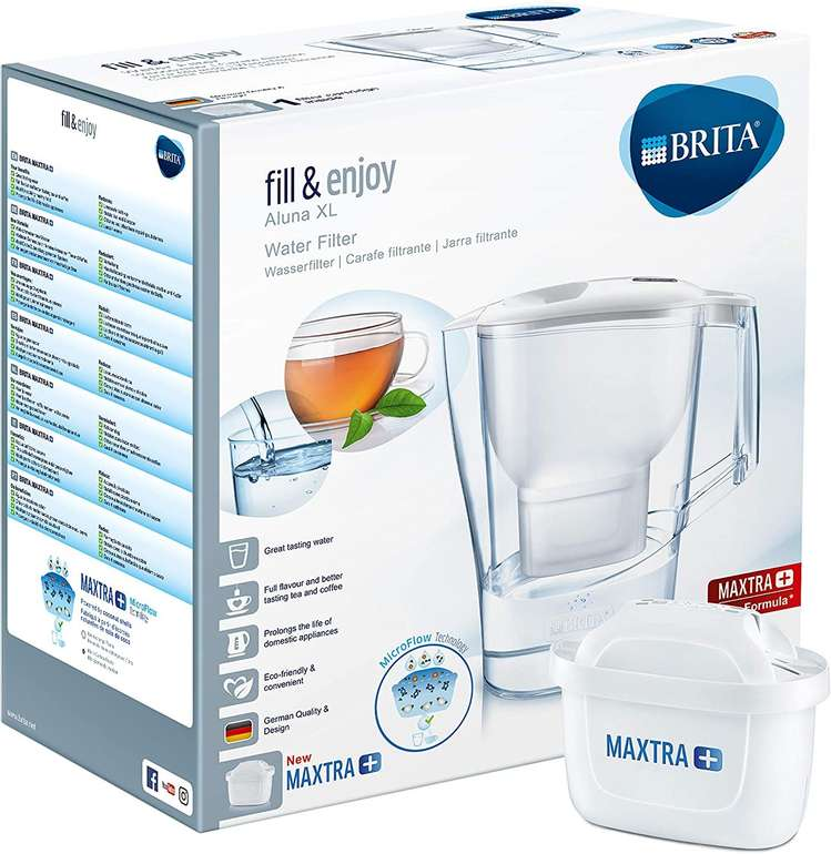 Brita Wasserfilter Aluna XL 3,5 L inkl. 1 Maxtra+ Filterkartusche für 11,11€ (statt 20€)