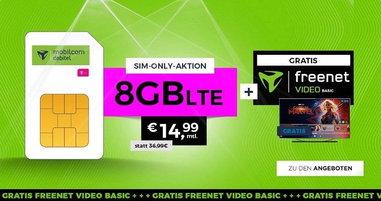 mobilcom debitel Telekom green LTE Tarif mit 8GB LTE Allnet-Flat