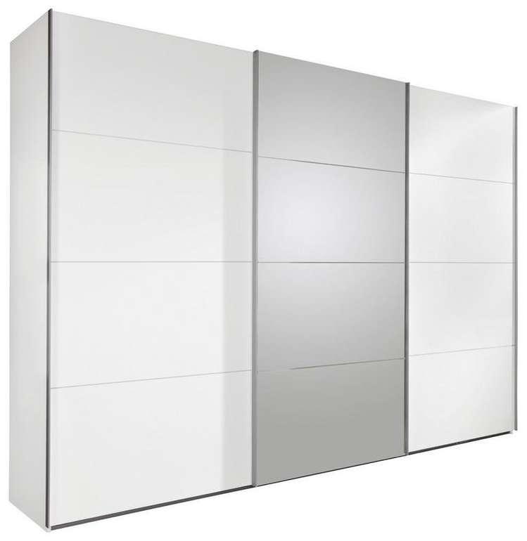 Schwebetürenschrank 3-türig in Weiß mit Spiegel für 438€ inkl. Versand (statt 800€)