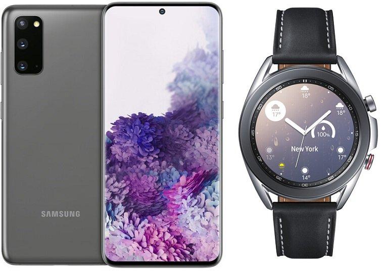 Samsung Galaxy S20 + Samsung Galaxy Watch3 41mm LTE mit o2 Allnet-Flat mit 40B LTE für 34,99€ mtl.