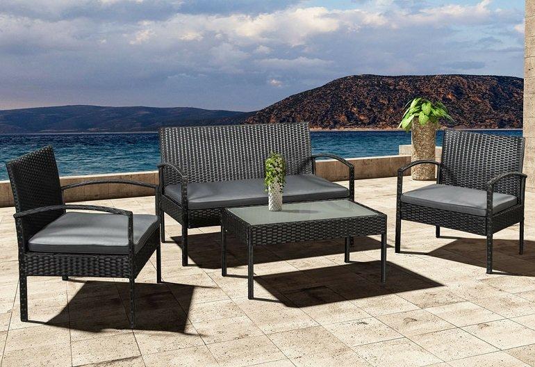 ArtLife Polyrattan Sitzgruppe Trinidad (Bank, zwei Lounge Sesseln + Tisch) für 139,95€ (statt 190€)