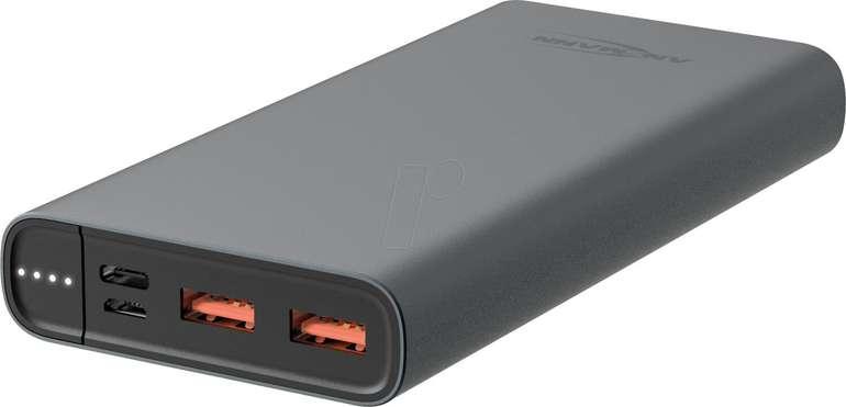 Ansmann Powerbank (15.000mAh, USB-C PD & 2x USB-A Quick Charge 3.0) für 18,99€ (statt 30€)
