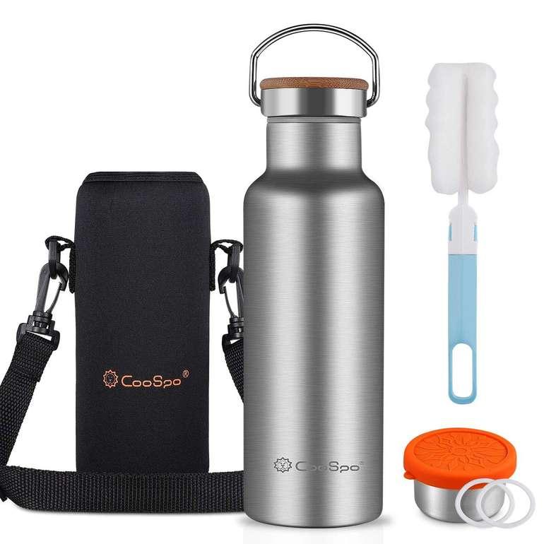 CooSpo Edelstahl Thermosflasche (500 ml, BPA-frei) für 9,90€ inkl. Prime Versand (statt 20€)