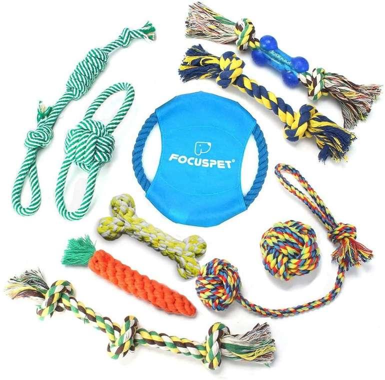 Focuspet 10-teiliges Hunde Spielzeug Set für 11,49€ inkl. Prime Versand