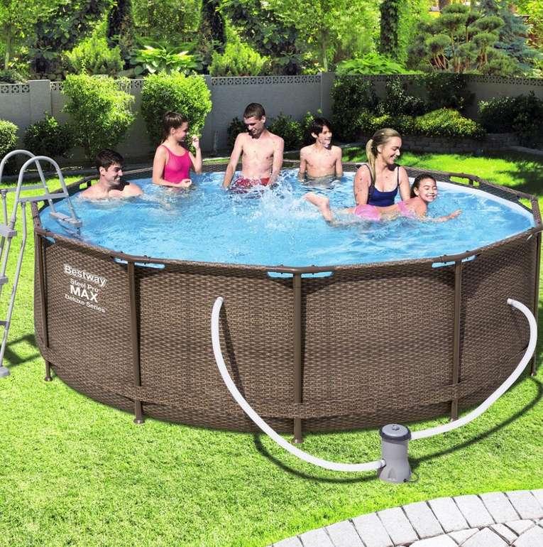 Bestway Pool Steel Pro Max Deluxe (Ø 366 x 100 cm) für 299,48€ inkl. Versand (statt 489€)