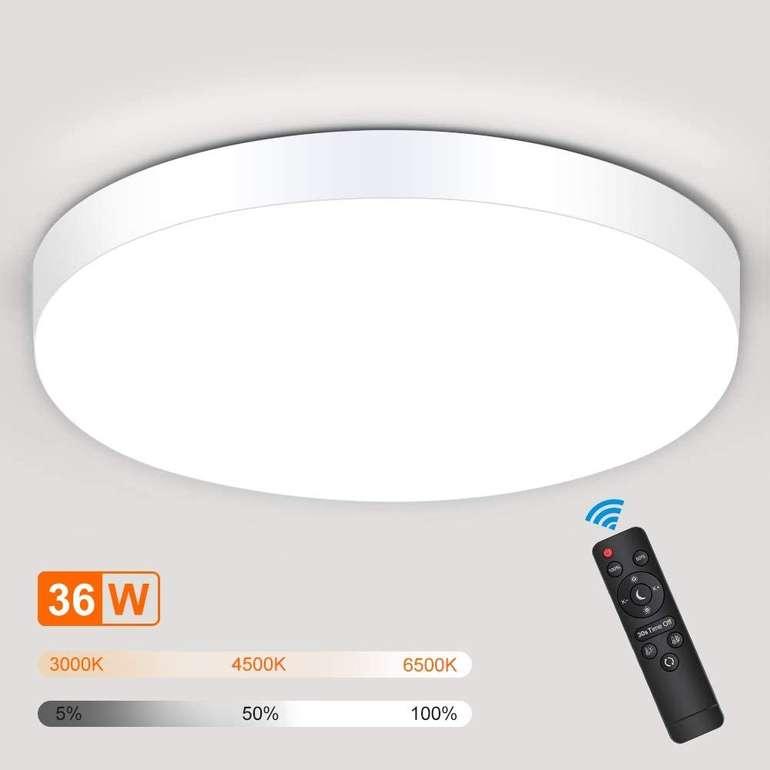 Solmore 36W LED Deckenleuchte (dimmbar, Fernbedienung) für 23,67€ (statt 37€)