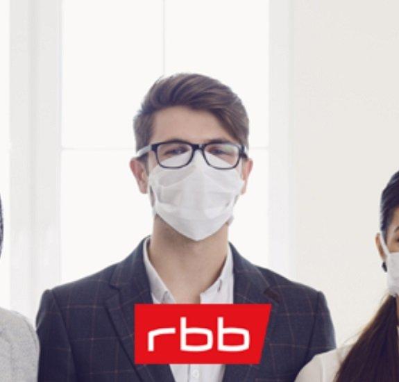 RBB: Mundschutz-Maske kostenlos nach Hause schicken lassen