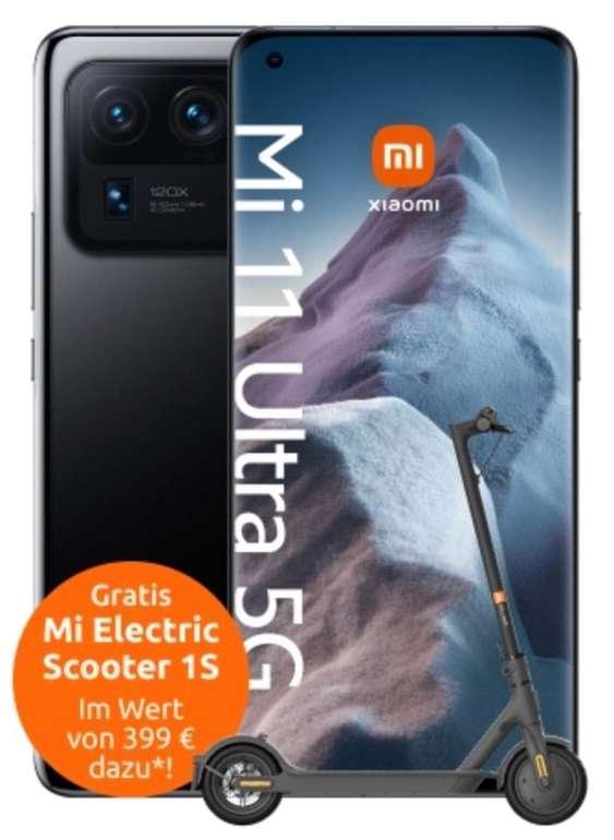 Xiaomi Mi 11 Ultra 5G (256GB) + Mi Scooter 1S (53,99€) + o2 Free Unlimited Max (unlimitiert LTE / 5G) für 59,99€ mtl.