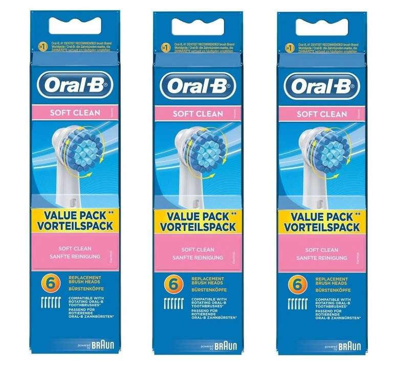 18 Stück Oral-B Sensitive Clean Aufsteckbürsten für 29,99€ inkl. Versand (statt 40€)