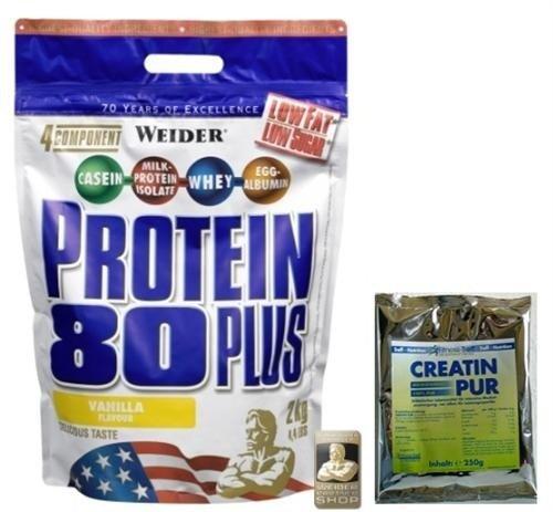 Weider Protein 80 plus 2000g Beutel (viele Sorten) + 250g Creatin für 33,90€ inkl. VSK (statt 56€) - Mastercard!