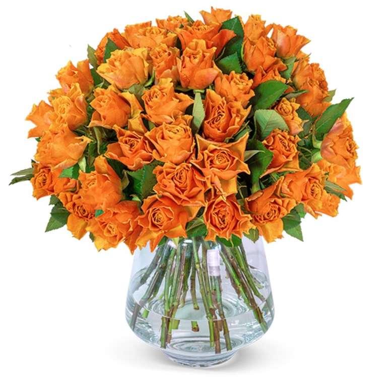 """40 orangefarbene Rosen im """"Frühlingserwachen""""-Strauß für 23,98€ inkl. Versand"""